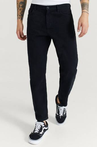 Studio Total Byxor Regular Tapered Twill Svart