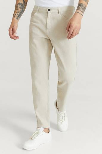 Studio Total Byxor Regular Tapered Twill Beige