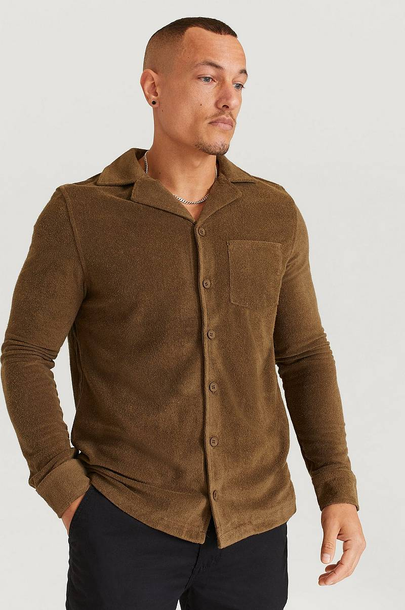 Skjorte Terry Camp Collar LS Shirt