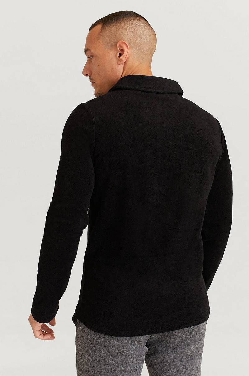Trøje Terry Camp Collar Long Sleeve