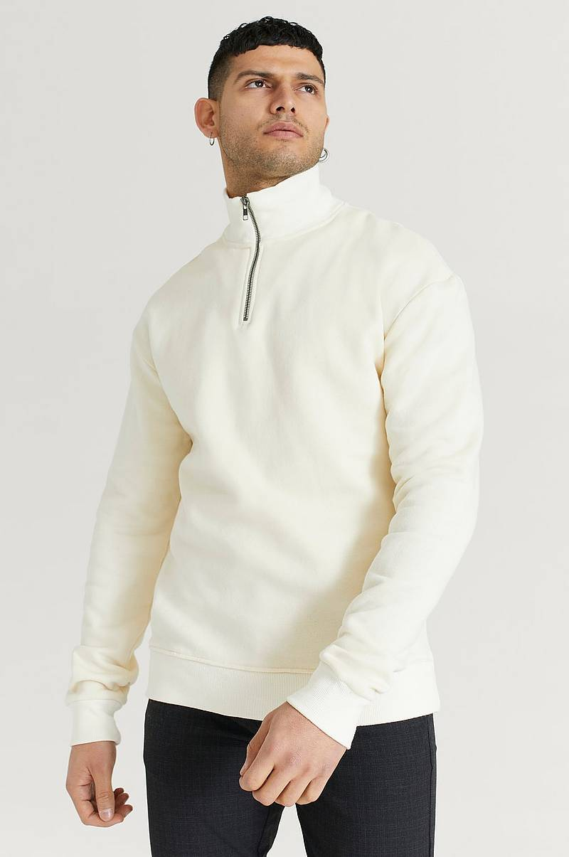 Collegepusero 1/2 Zip Rib Collar Sweater