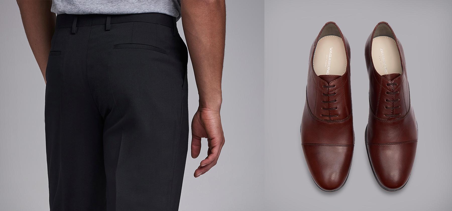 d307ef8d I årevis har man dratt seg i håret i fortvilelse over spørsmålet om man kan  matche brune sko med svarte bukser eller ikke.